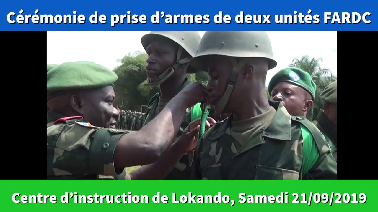 Maniema : le Gouverneur assiste à la cérémonie de prise d'armes par deux unités des FARDC