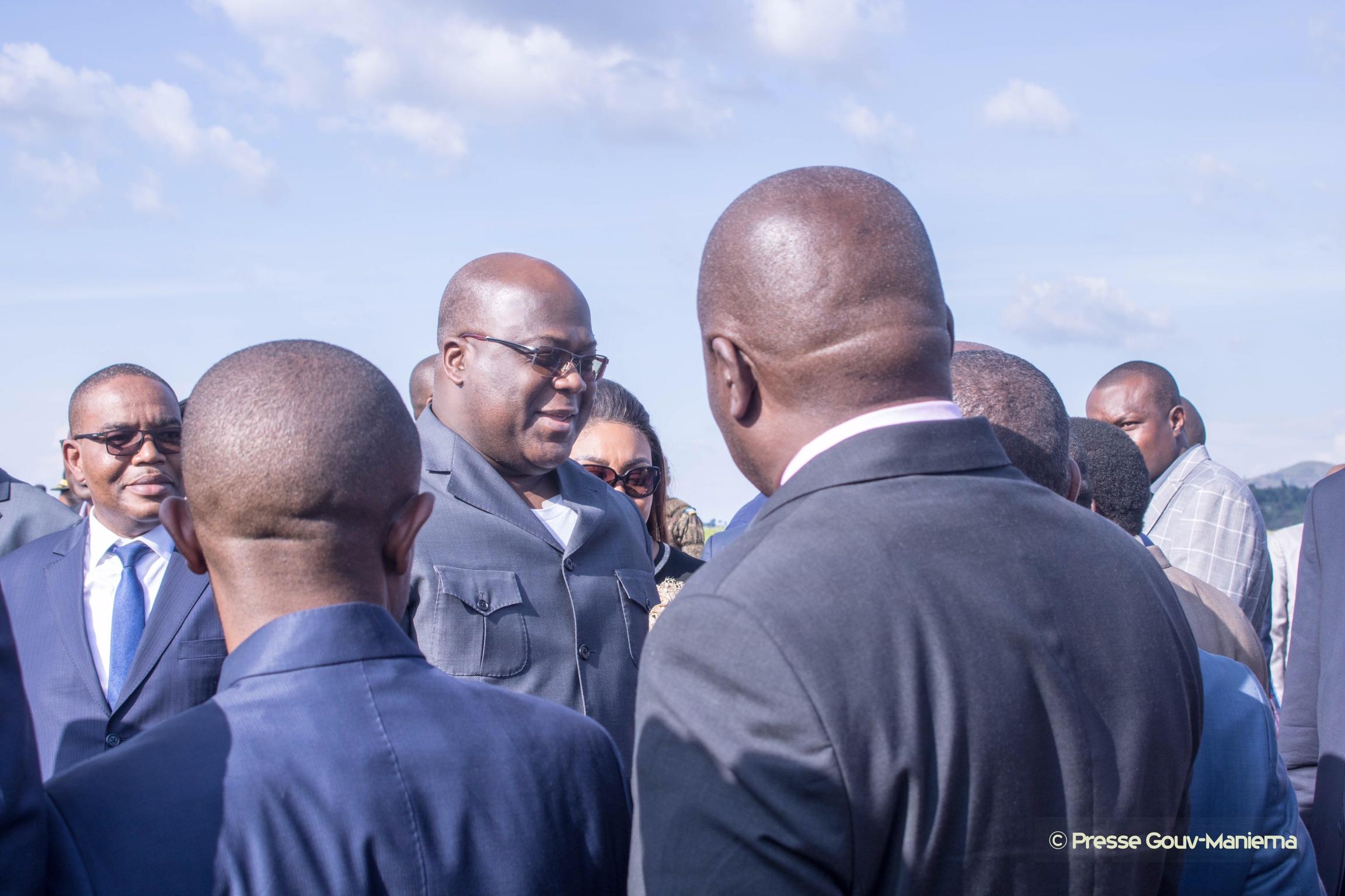 Bukavu : Le Gouverneur Auguy Musafiri a accueilli le Président de la République à l'aéroport de Kavumu