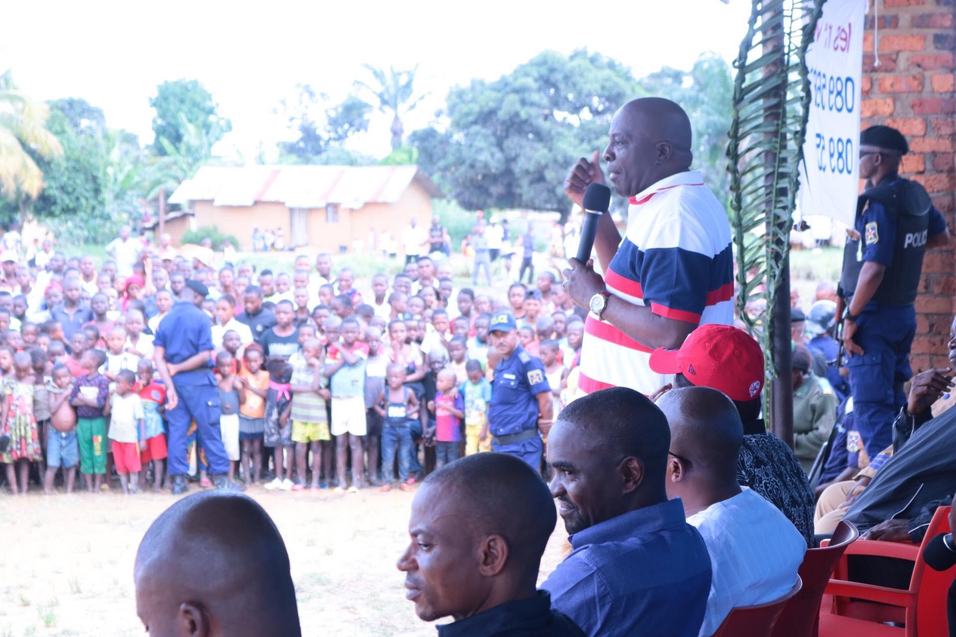 Résumé du discours du Gouverneur Musafiri à son premier meeting au Quartier Brazza