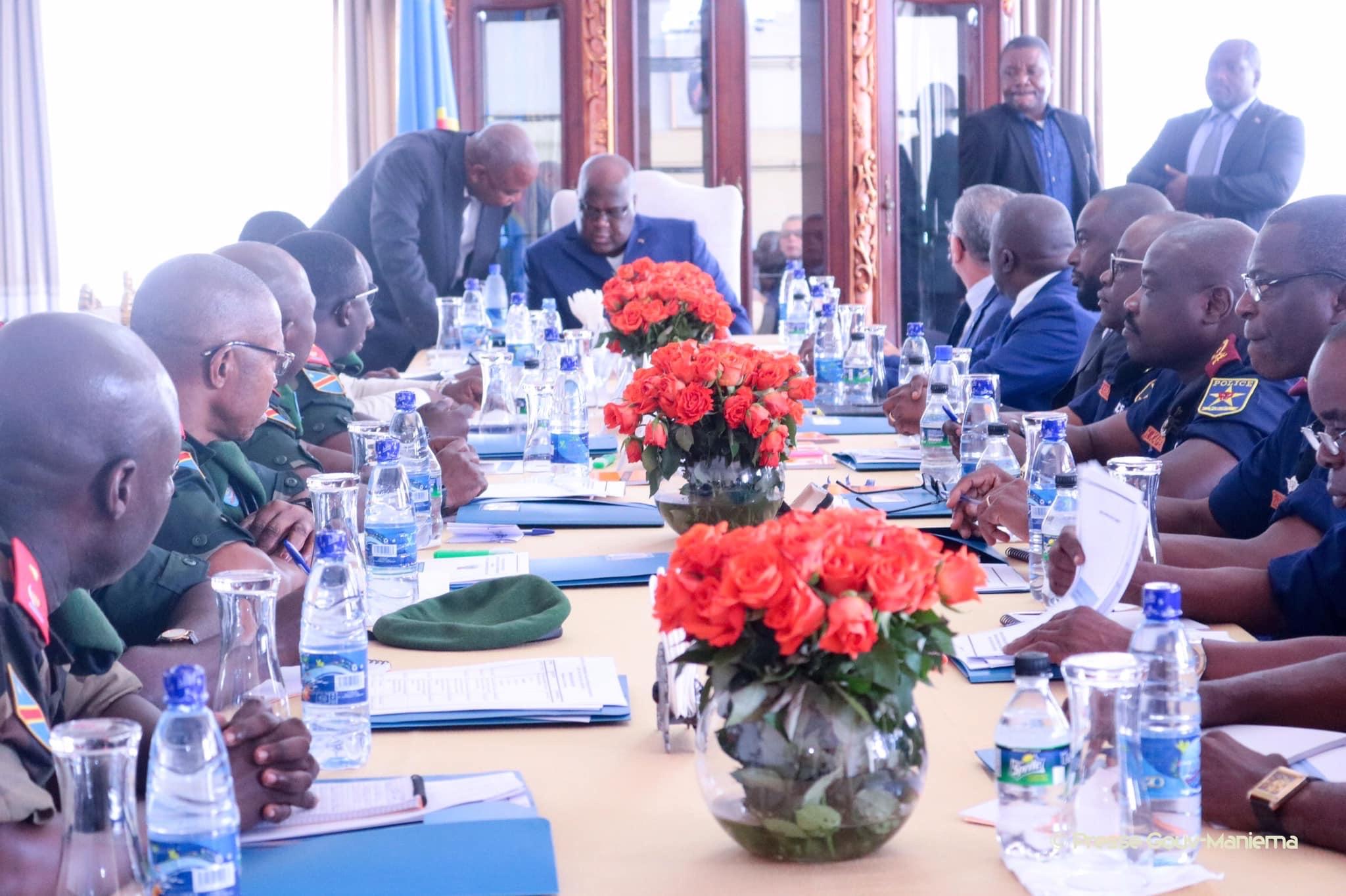 La sécurité à l'Est au cœur d'une réunion présidée par Félix-Antoine Tshisekedi à Bukavu