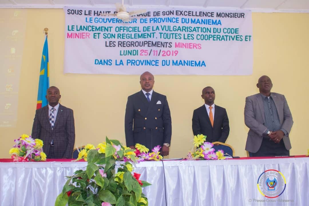 Maniema : le Gouvernement provincial vulgarise le code et règlement miniers