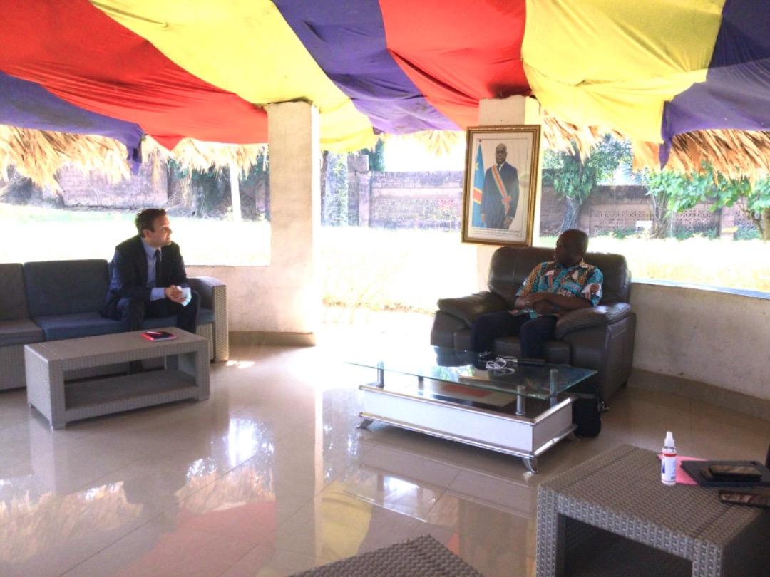 MANIEMA: Tête à tête ce Dimanche entre le Gouverneur ai AFANI IDRISSA MANGALA et le Conseiller Politique à l'Ambassade de la Belgique en RDC