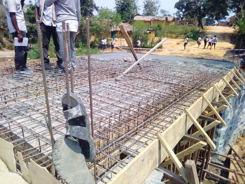 Maniema : l'OVD Maniema accélère avec les travaux de construction du pont Kaponjo situé sur l'avenue OKENGE.