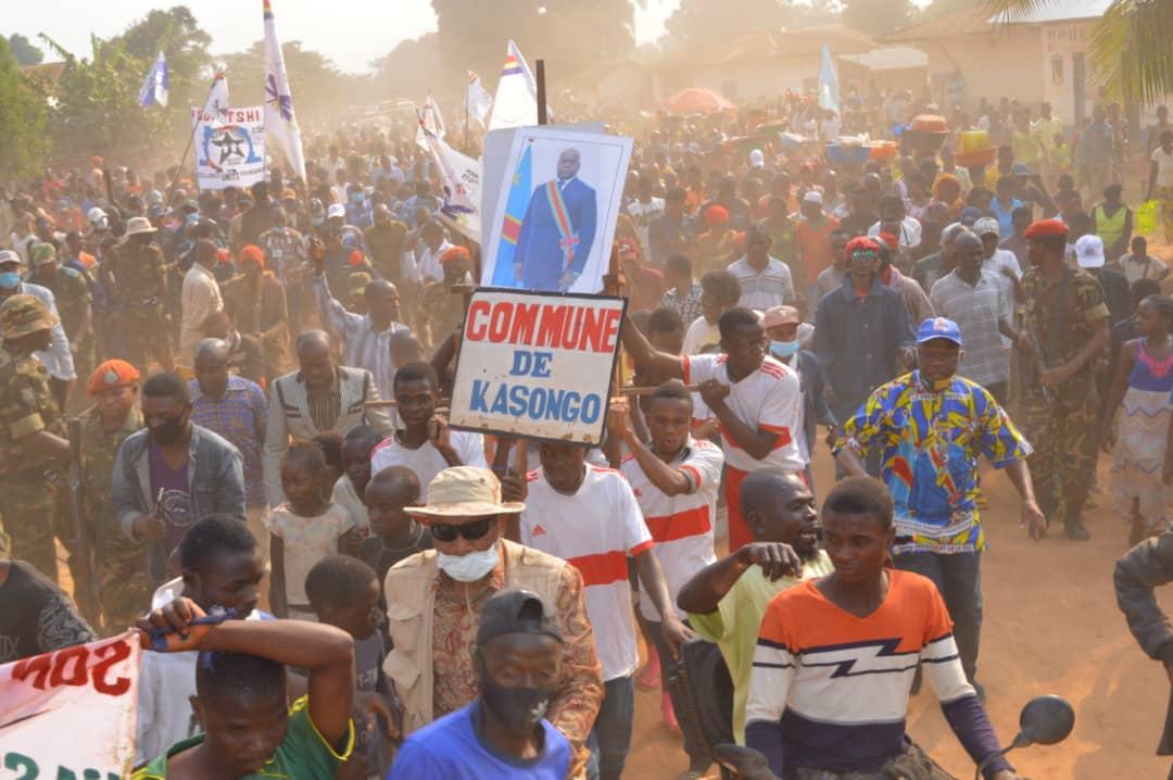 Maniema : Le Gouverneur ai Affani Mangala est arrivé à Kasongo dans le cadre de son itinérance au Sud de la province