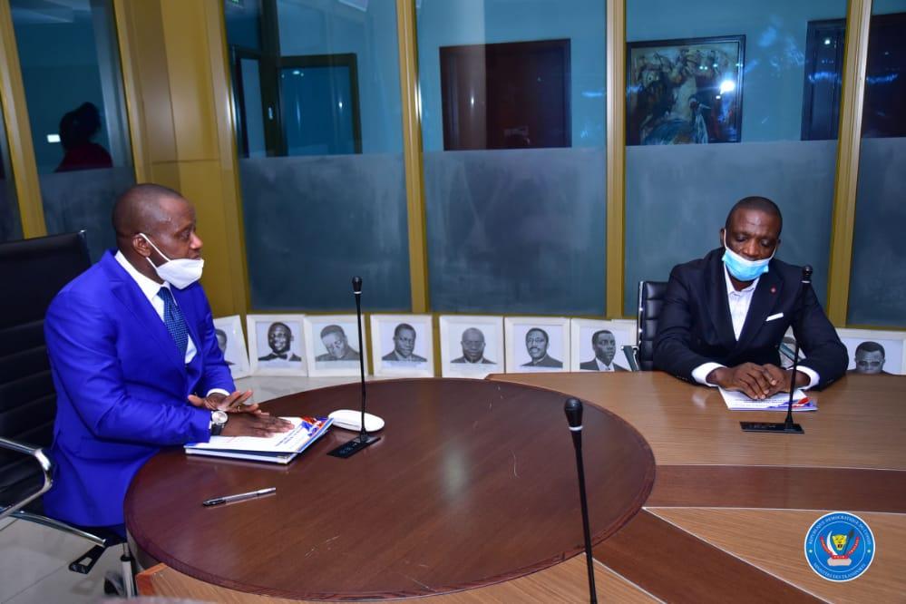 RDC : le Gouverneur ai Mangala s'entretien avec le Ministre national Chérubin Okende