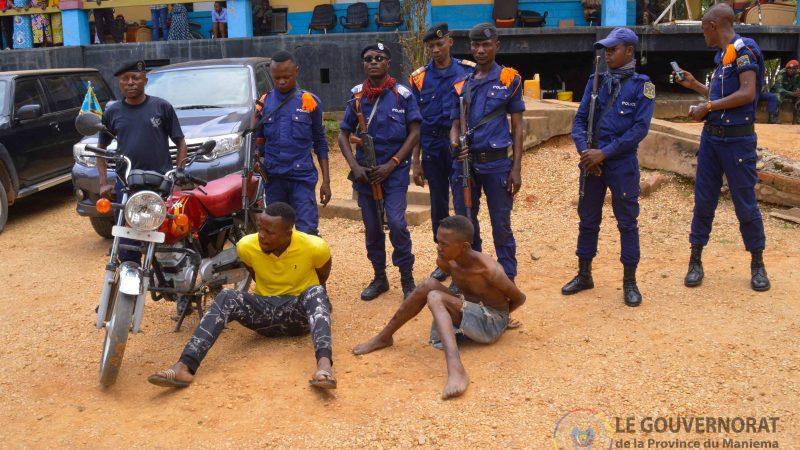 MANIEMA : Deux présumés voleurs bandits à main armée présentés au Gouverneur ai Mangala
