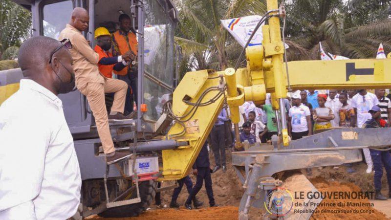Le Gouv ai Mangala lance  travaux de réhabilitation des tronçons routiers Kindu-Kibombo et Kindu-Kasuku